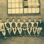 Photograph of the Kingsport Press Basketball Team in 1929.